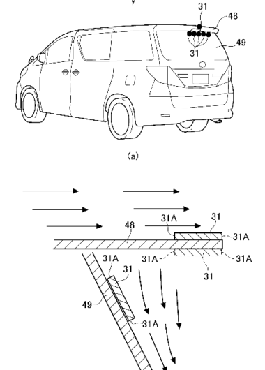 アルミテープチューニング リヤガラス貼り付け例