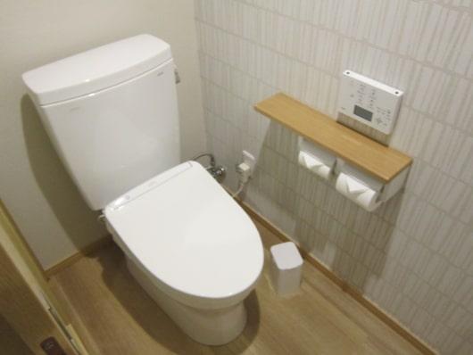 リノベーションされたトイレ