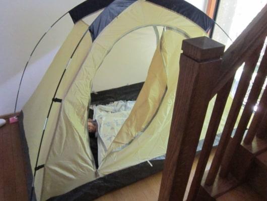 家の中のテント
