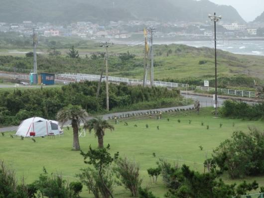 千里の風敷地内のオートキャンプ場