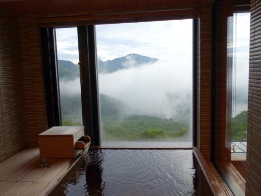 発哺温泉の展望風呂