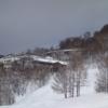 雪景色のホテルひがしだて外観