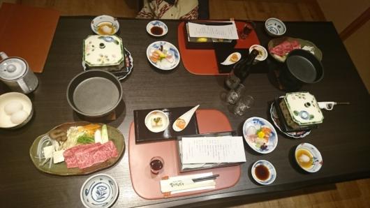 個室お食事処での夕食1