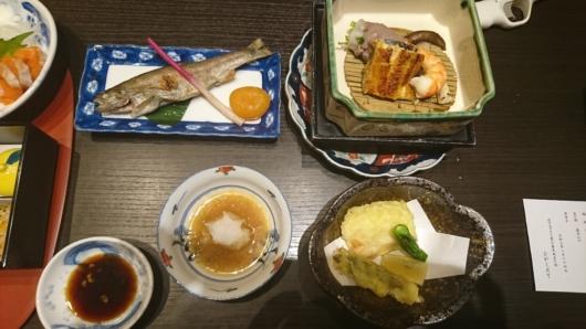 個室お食事処での夕食2