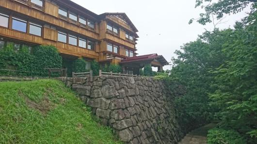 十和田ホテルの石垣