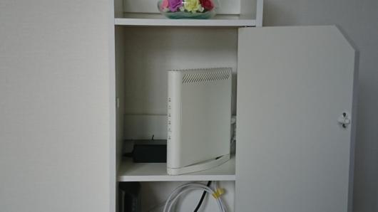 Wi-Fiルーター専用収納ラック上段収納例
