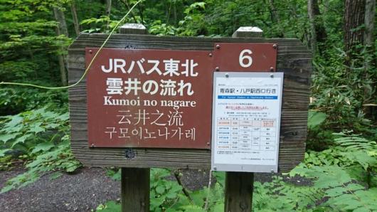 JRバス東北 雲井の流れ停留所
