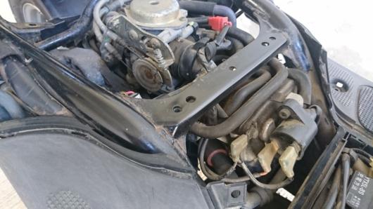 ヤマハビーノの4サイクル水冷エンジン