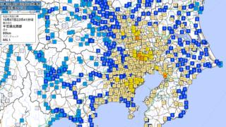 10月7日22時41分 震度マップ